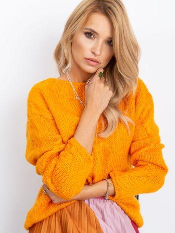 Pomarańczowy sweter Tiffany