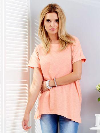 Pomarańczowy t-shirt oversize