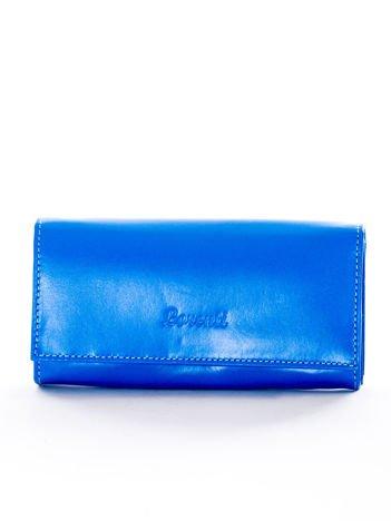 Portfel damski skórzany niebieski