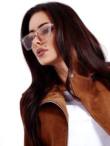 Przeźroczyste Okulary Przeciwsłoneczne KOCIE OCZY