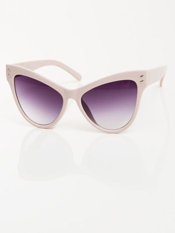 Pudrowe przeciwsłoneczne okulary damskie CAT ELEGANT
