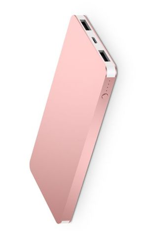 Q-touch QPB-49 Nowoczesny Powerbank o mocy 4000 mAh szybkie ładownie 2A dwa USB Kolor złoty