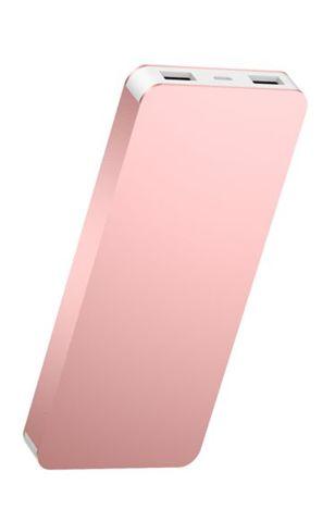 Q-touch QPB-89 Nowoczesny Powerbank o mocy 8000 mAh szybkie ładownie 2A dwa USB Bateria polimerowa  Kolor różowy