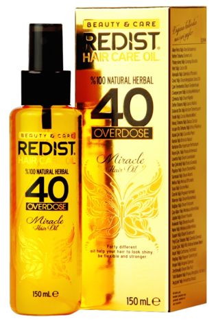 REDIST 40 OVERDOSE HERBAL OIL ZIOŁOWY OLEJEK 150 ML