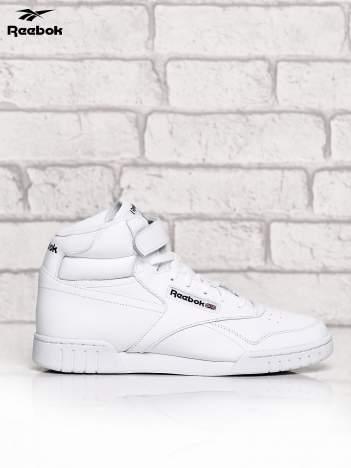 REEBOK Białe sneakersy męskie EX-O-FIT HI sportowe z zapięciem na rzepy
