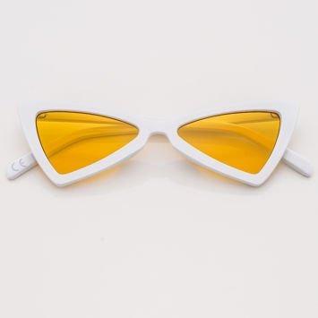 RETRO CAT EYE Białe damskie okulary przeciwsłoneczne KOCIE OCZY
