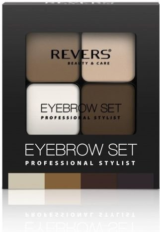 REVERS Cienie do brwi EYE BROW SET PROFESSIONAL STYLIST nr 02 18g