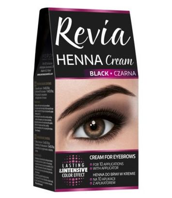 REVIA HENNA DO BRWI W KREMIE CZARNA 15 ml