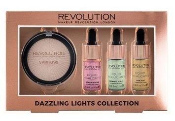 REVOLUTION Dazzling Lights Collection Zestaw 4 rozświetlaczy