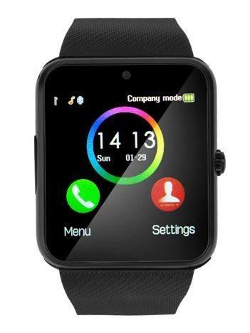 RONEBERG Smartwatch RG08 Współpracuje z Android oraz iOS Powiadomienia Połączenia Krokomierz Monitor snu Czarny