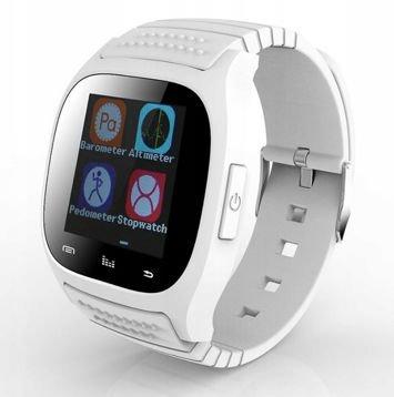 RONEBERG Smartwatch RM26 Współpracuje z Android oraz iOS Powiadomienia Połączenia Krokomierz Monitor snu Biały