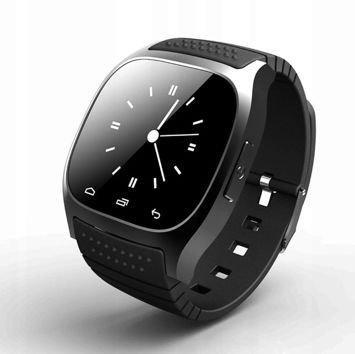 RONEBERG Smartwatch RM26 Współpracuje z Android oraz iOS Powiadomienia Połączenia Krokomierz Monitor snu Czarny