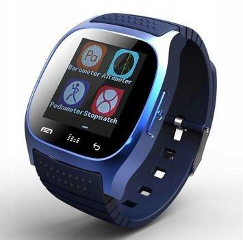 RONEBERG Smartwatch RM26 Współpracuje z Android oraz iOS Powiadomienia Połączenia Krokomierz Monitor snu Niebieski