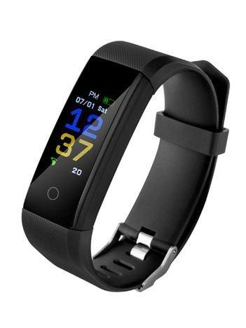 RONEBERG Smartwatch Smartband R115 Pulsometr Ciśnieniomierz Oksymetr Powiadomienia Długi czas działania Wodoodporny IP 67 Czarny