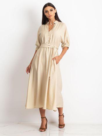 RUE PARIS Beżowa sukienka June