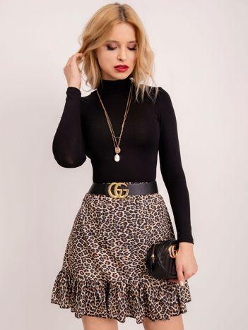 RUE PARIS Beżowo-czarna spódnica Carol