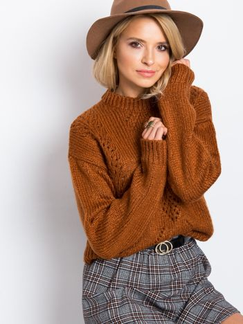 RUE PARIS Brązowy sweter Luca