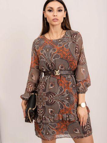 RUE PARIS Ciemnobrązowa sukienka Hampton