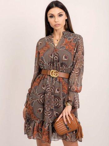 RUE PARIS Ciemnobrązowa sukienka Keira