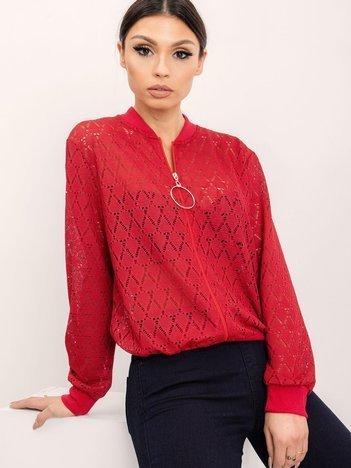 RUE PARIS Ciemnoczerwona bluza Melody
