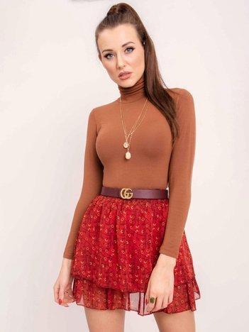 RUE PARIS Ciemnoczerwona spódnica Marisa