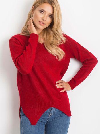 RUE PARIS Ciemnoczerwony sweter Believe