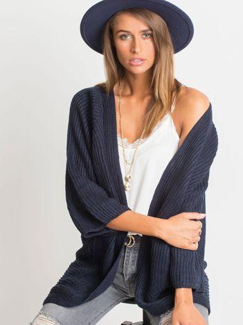 RUE PARIS Ciemnogranatowy sweter Spotlight