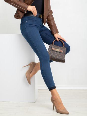 RUE PARIS Ciemnoniebieskie spodnie Sarah