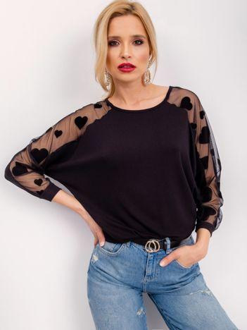 RUE PARIS Czarna bluzka Carla