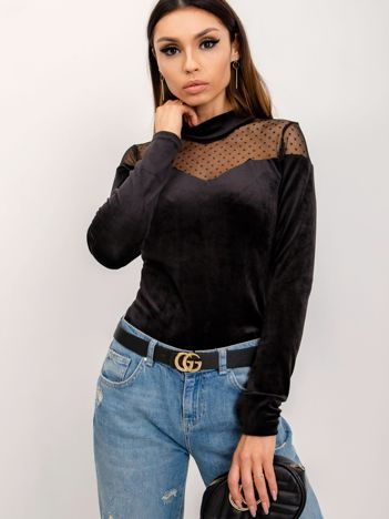 RUE PARIS Czarna bluzka Cecille
