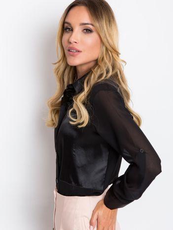 RUE PARIS Czarna bluzka Velvet