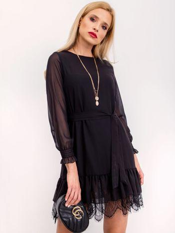 RUE PARIS Czarna sukienka Carmen