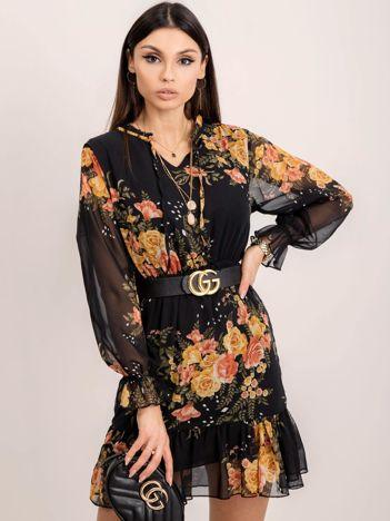 RUE PARIS Czarna sukienka Cynthia