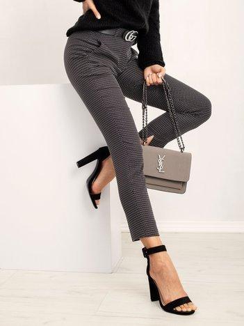 RUE PARIS Czarne spodnie Sideway