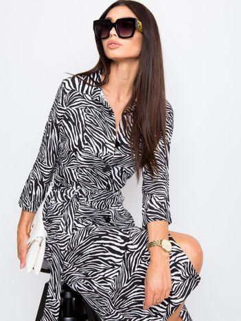 RUE PARIS Czarno-szara sukienka Palladine