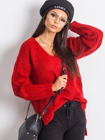 RUE PARIS Czerwony sweter Gift