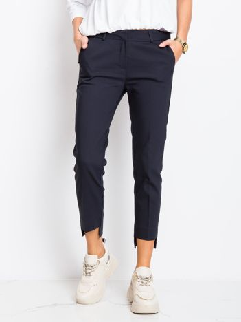 RUE PARIS Granatowe spodnie This