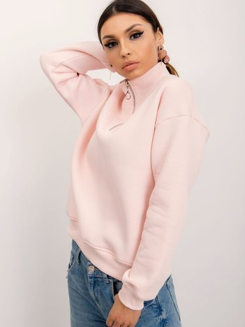 RUE PARIS Jasnoróżowa bluza Ayla