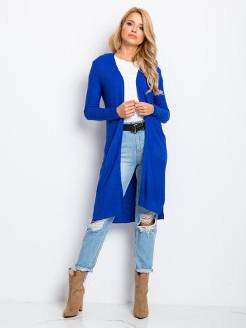 RUE PARIS Kobaltowy sweter Touch