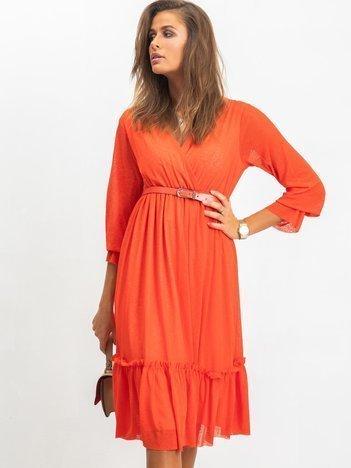 RUE PARIS Koralowa sukienka Boom