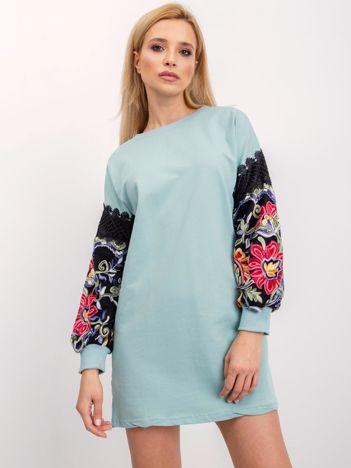 RUE PARIS Miętowa sukienka Neffy