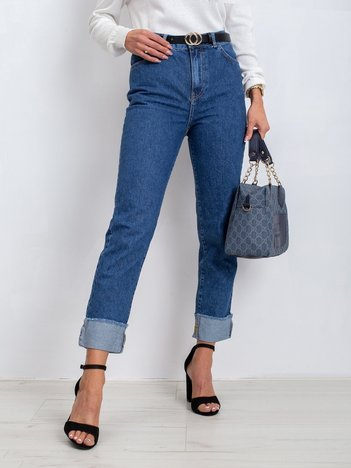 RUE PARIS Niebieskie jeansy Sharp