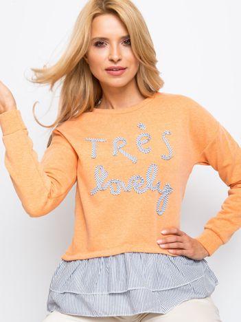 RUE PARIS Pomarańczowa bluza Lucky