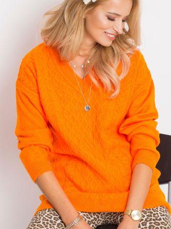 RUE PARIS Pomarańczowy sweter Chill