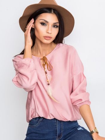 RUE PARIS Różowa bluzka Several