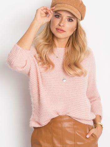 RUE PARIS Różowy sweter Delight