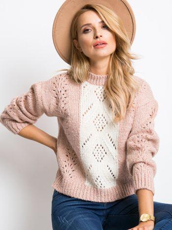 RUE PARIS Różowy sweter Leia