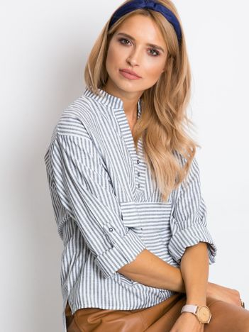 RUE PARIS Szaro-biała bluzka Shannon
