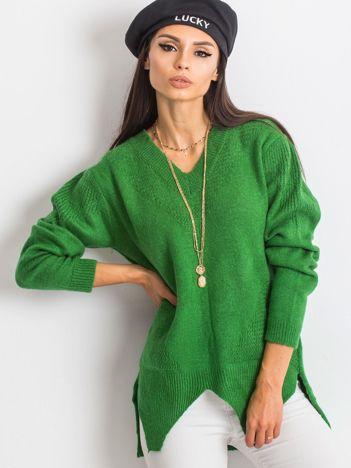 RUE PARIS Zielony sweter Believe