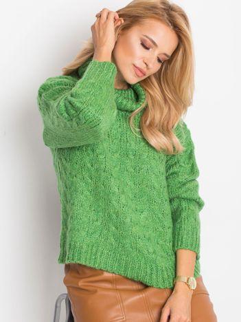 RUE PARIS Zielony sweter Heavenly
